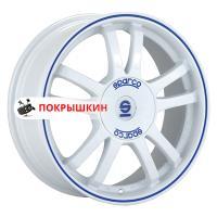 7*17 4*108 ET25 73,1 Sparco Rally White + Blue Lip