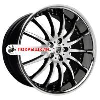 8,5*20 5*112 ET32 74,1 Lexani LX14 Black/Machined/Chrome Lip
