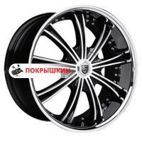 8,5*20 5*112 ET35 74,1 Lexani LX19 Black/Machined/Chrome Lip