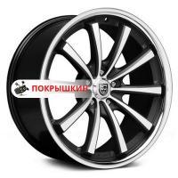 10,5*20 5*120 ET35 74,1 Lexani CVX55 Gloss Black/Machined/Chrome Lip